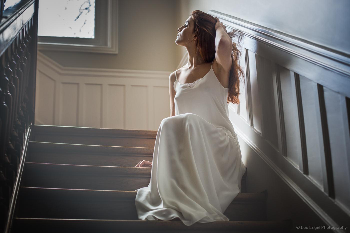 Portrait Lifestyle - Robe de mariée Au fil d'Elise - @louengelphotos